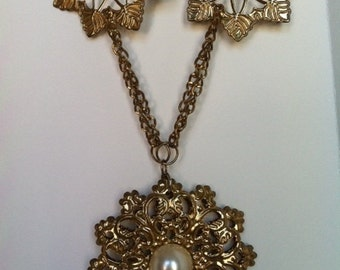 Brass Filigree Necklace