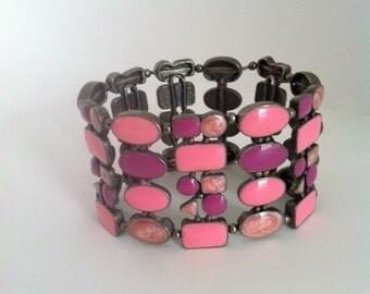 Pink and Purple Stretch Bracelet