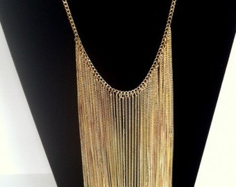 Vintage Gold Chain Waterfall