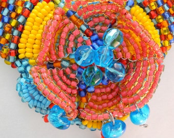 Beaded Necklace: Santa Fe Inspiration Primary Colour  One-Of-A-Kind Choker