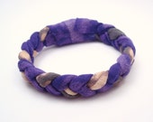 T Shirt Bracelet Bleached Recycled T Shirt Purple and Grey Summer Accessories