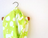 Neon Green Scarf Recycled T Shirt Scarf Infinity Scarf Womens Accessories Bleached