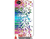 Rainbow Design Iphone 4/4s case, Iphone case, Iphone 4s case, Iphone 4 cover, i phone case, i phone 4s case