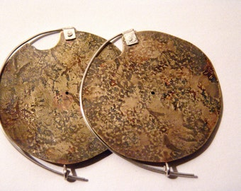 Handmade Shield Earrings