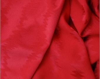Red Silk Jacquard Fabric - Fabric By The Yard