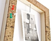 Magnetic cork picture frame