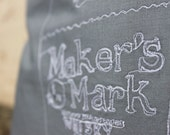 Makers Mark Bottle Embroidered Cushion Cover - Slate