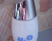 gemco Blue Cornflower (2 flower style) Milk Glass Sugar Pourer