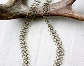 Chainmaille Necklace in Antique Brass