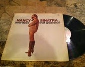"Vinyl Record of Nancy Sinatra's ""How does the grab you"""
