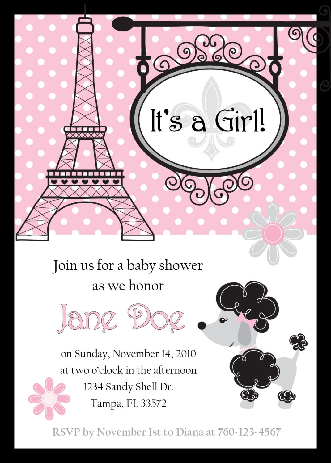 Make Your Own Baby Shower Invites is beautiful invitations example