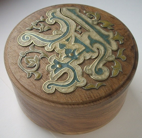 "Wooden inlaid jewelry box ""Arabesque"""