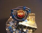 Cyberpunk Ring - Custom Unisex Wire Wrap - Hematite wire