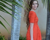 orange flower dress