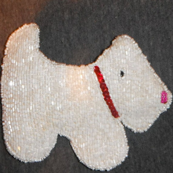 white schnauzer coin purse