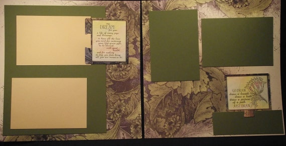 Victorian Religious Toned 12x12 Premade Scrapbook Pages
