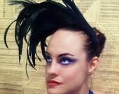 Black Feather Headpiece Fascinator