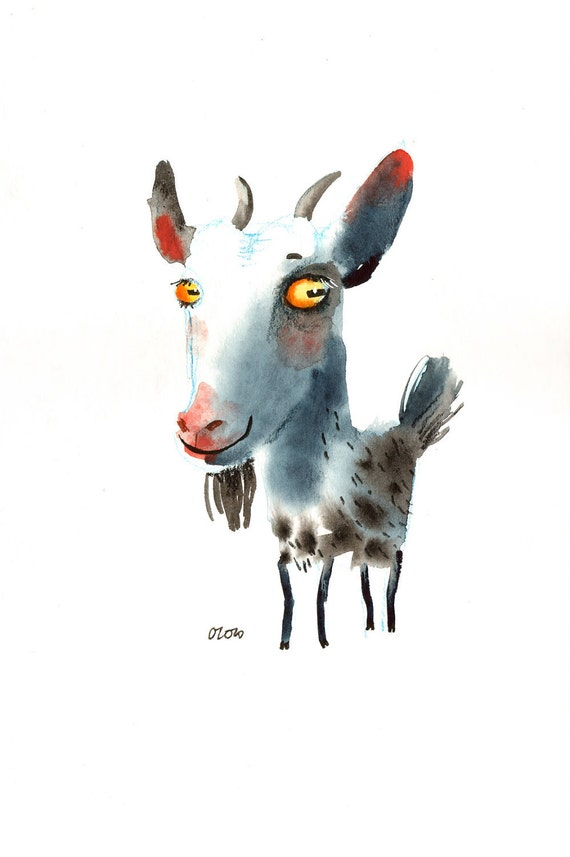 The Spotted Goat , original painting by ozozo