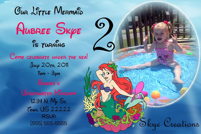 Mermaid Baby Shower Invitation was amazing invitations layout