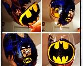 Batman Handpainted Wine Glass