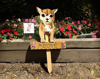 chihuahua sign lawn stake