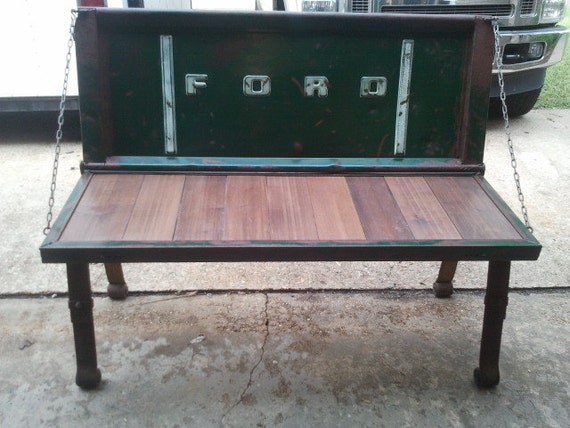 Ford Tailgate Bench by WilsonWelding on Etsy | The Reclamation ...