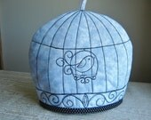 Embroidered Birdcage Tea Cosy