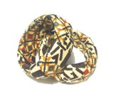 Brown Afrittude bangle in African print