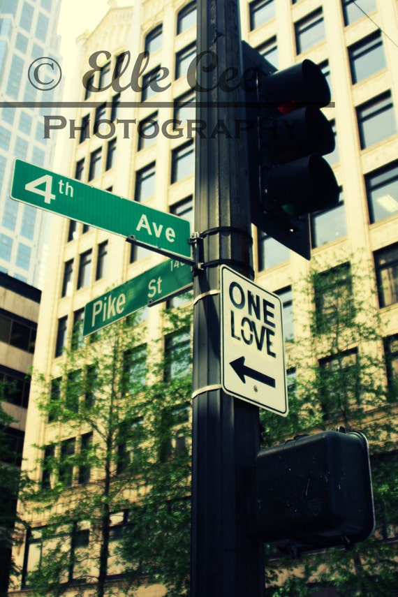 Items similar to One Love Street Sign Print on Etsy