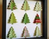 Green Christmas Tree, 3D Paper art