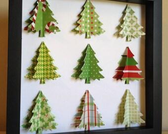 Christmas Tree, 3D Paper art