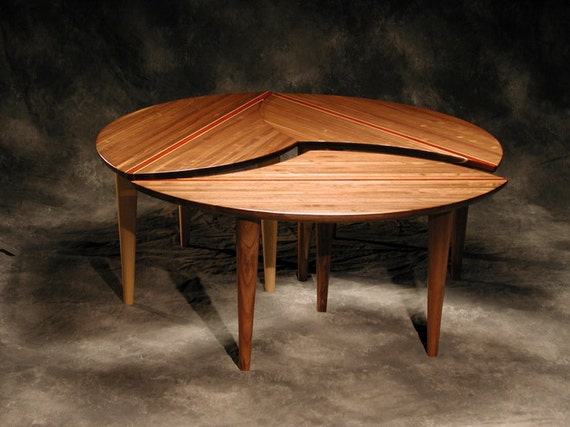 sectional coffee table 3 piece solid hardwood 43 round