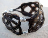 BELLA - Horse Hair Bracelet - Celtic - Sterling Silver