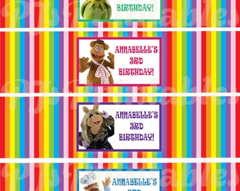 The Muppets Water Bottle Labels - Customized Digital File