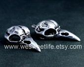 4 pcs 33x15mm Antique Silver Vintage style bird skull Charm Pendant pendantshs ASB001