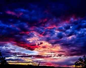 New Mexico Sunset Landscape Photograph Print 8x12 (and larger) Fine Art Photo Print