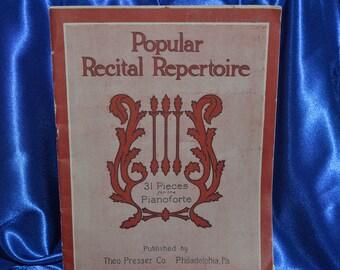 Popular Recital Repertoire Music Book Theo Presser   Musical Notes