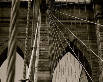 Black & White Brooklyn Bridge