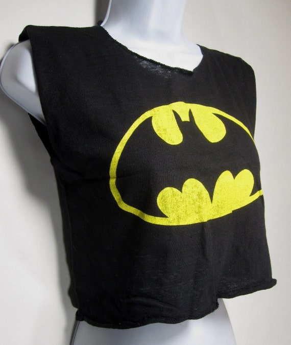 Vintage Batman Logo Sleeveless T-Shirt/Tanktop Women's, Youth, Maybe Men's :) 1980's