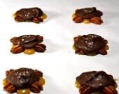 Chocolate Caramel Turtles with Fleur de Sel, Half Dozen
