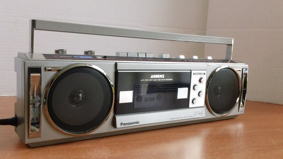 Rare in this condition. Panasonic F4 cassette mini boombox huge sound selectable EQ & ambience sound feature