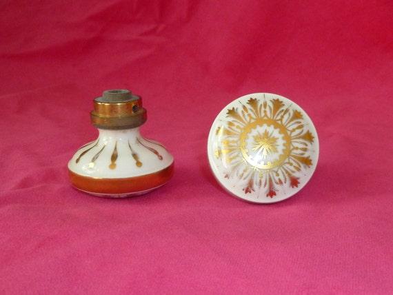 French Vintage Porcelain Door Knobs