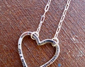 With My Whole Heart - Silver Stamped - Open Heart