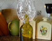 Crystal Topped Beer Bottle Candle Holder