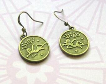Virgo  Zodiac Earrings