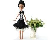 Monster High lolita dress black & white with bow