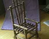 Handmade Wooden Twig Rocking Chair for Dolls
