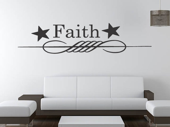 A Primitive Stencil Faith Lettering Quotes sticker Vinyl Removable Stickers Wall Decals  (171)