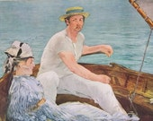 Manet - Boating at Argenteuil by Edouard Manet, Painting Masterpiece, 1953 Print