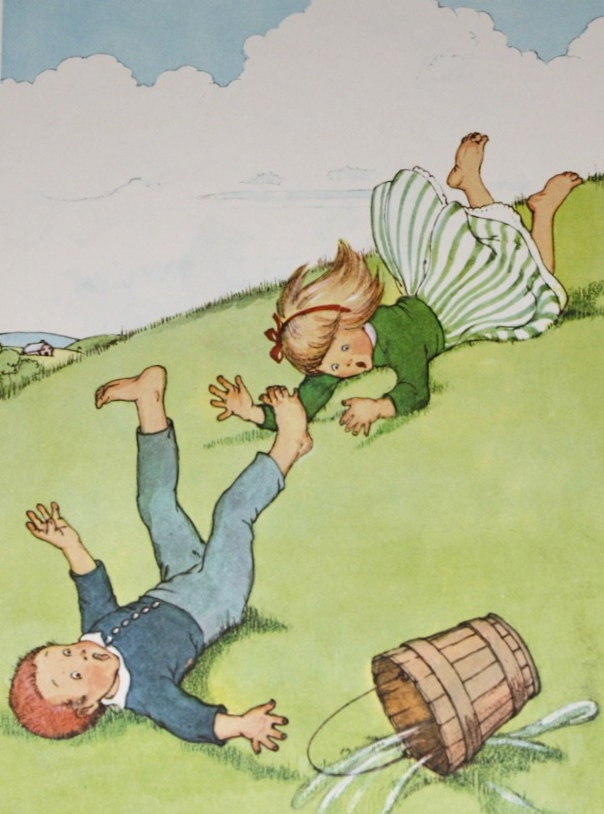 Jack and jill went up the hill 1956 childrens nursery rhyme for Jack and jill stories